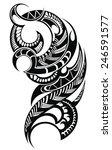 maori styled tattoo pattern  | Shutterstock .eps vector #246591577