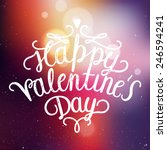 happy valentines day... | Shutterstock .eps vector #246594241