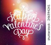 happy valentines day... | Shutterstock .eps vector #246594241