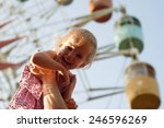 girl on dad hands near the... | Shutterstock . vector #246596269