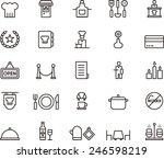 restaurant icons | Shutterstock .eps vector #246598219