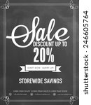 sale and discount upto 20  off... | Shutterstock .eps vector #246605764