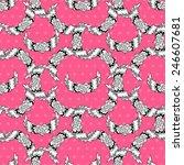 elegant seamless pattern with... | Shutterstock .eps vector #246607681