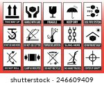 packaging symbols  this way up  ... | Shutterstock .eps vector #246609409