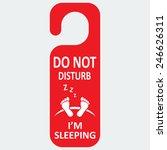 vector hotel tag do not disturb ... | Shutterstock .eps vector #246626311