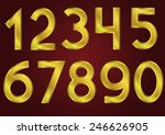 golden numbers on the red... | Shutterstock .eps vector #246626905