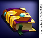 magic book.  vector...