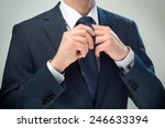 businessman dressed up the knot ... | Shutterstock . vector #246633394