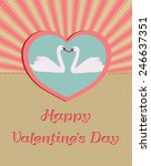 romantic happy valentines day... | Shutterstock .eps vector #246637351