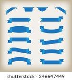 set of ribbons.ribbon banner... | Shutterstock .eps vector #246647449