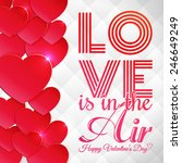 happy valentine's day card with ... | Shutterstock .eps vector #246649249
