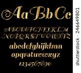 gold font | Shutterstock .eps vector #246649801