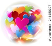 valentine's day hearts colorful ...   Shutterstock . vector #246650377