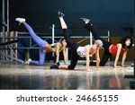 group of women working out in... | Shutterstock . vector #24665155