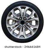 car wheel on white background ... | Shutterstock . vector #246661684