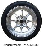 car wheel on white background ... | Shutterstock . vector #246661687