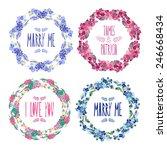 elegant floral frames  design...   Shutterstock .eps vector #246668434