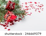 happy new year and merry... | Shutterstock . vector #246669379