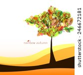 abstract nature background with ... | Shutterstock .eps vector #246672181