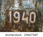 heavily rusted metal surface... | Shutterstock . vector #24667369