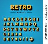 retro 3d alphabet | Shutterstock .eps vector #246678379