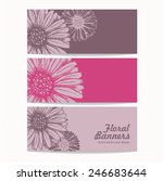vector set of floral banners... | Shutterstock .eps vector #246683644