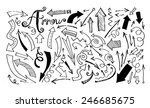 arrow doodle vector | Shutterstock .eps vector #246685675