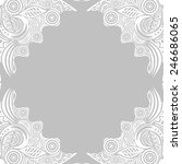 floral nature pattern card... | Shutterstock . vector #246686065