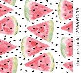seamless pattern of sweet juicy ... | Shutterstock .eps vector #246694519