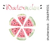 watercolor round slices of... | Shutterstock .eps vector #246694531