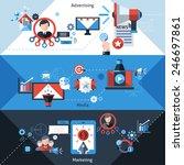 advertising media and marketing ... | Shutterstock .eps vector #246697861