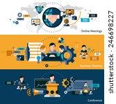 business meeting banners set... | Shutterstock .eps vector #246698227