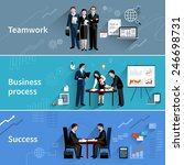 teamwork banners set with... | Shutterstock .eps vector #246698731