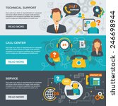 technical support call center... | Shutterstock .eps vector #246698944