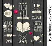 cute and stylish typographic... | Shutterstock .eps vector #246699619
