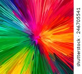 Rainbow Explosion  Abstract...