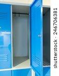photo blue open lockers in the... | Shutterstock . vector #246706381