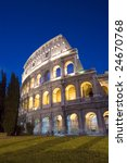 night scene from colosseum at... | Shutterstock . vector #24670768