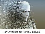 abstract character shattered... | Shutterstock . vector #246718681