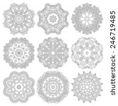 circle lace ornament  round... | Shutterstock .eps vector #246719485