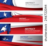 Abstract Background Flags...