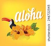 summer poster.typography vector. | Shutterstock .eps vector #246722545