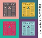 newspaper vector icon. | Shutterstock .eps vector #246725434