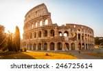 Colosseum At Sunrise In Rome ...
