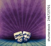 theater concept with two masks... | Shutterstock . vector #246725701