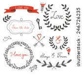 beautiful love set with elegant ... | Shutterstock .eps vector #246726235