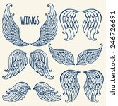 set of illustrations with angel ... | Shutterstock .eps vector #246726691