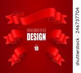 set of vector ribbons | Shutterstock .eps vector #246737704
