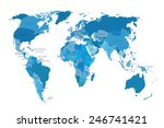 political map of the world.... | Shutterstock .eps vector #246741421
