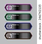 black modern text box template... | Shutterstock .eps vector #246742135